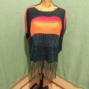 Free People Sunset Fringe Sweater